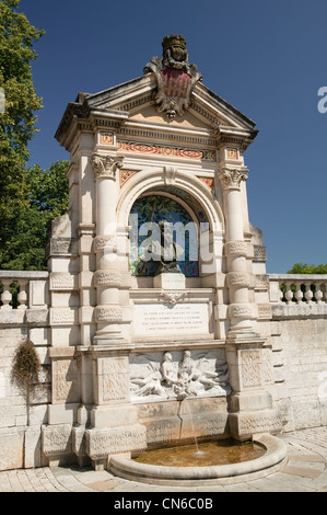 Monument to Clement Marot Place Champollion Cahors Lot Occitaine France - Stock Photo