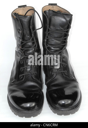 A pair of well cared for military boots - army polished. From the archives of Press Portrait Service (formerly Press - Stock Photo