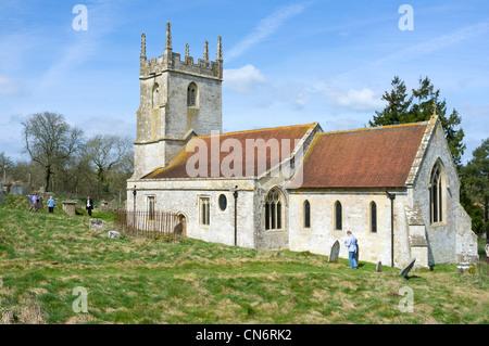 St Giles Church Imber on Salisbury Plain Wiltshire - Stock Photo