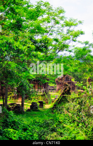 My Son, UNESCO World Heritage Site, ruins of the ancient kingdom of Champa, Vietnam, Asia - Stock Photo