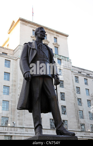 Statue of Hugh Trenchard (1873 - 1956) in London, England. - Stock Photo