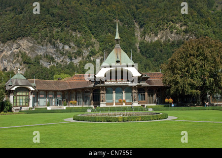 Kursaal Casino in Interlaken in the Canton of Bern in Switzerland - Stock Photo