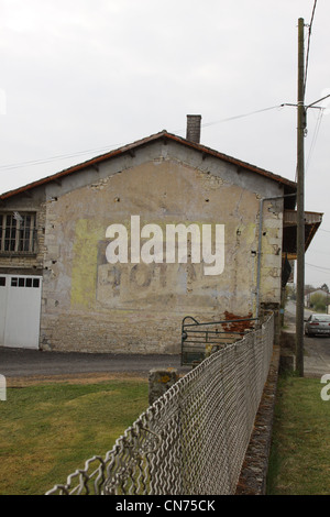 Ghost adverts in France - Stock Photo