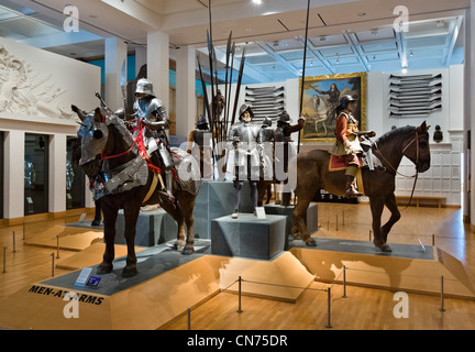 Men at Arms display in the War Gallery, Royal Armouries Museum, Leeds, West Yorkshire, England - Stock Photo
