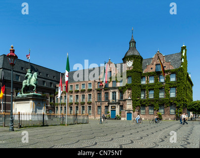 The Rathaus - City Hall - in Dusseldorf - Stock Photo
