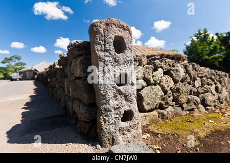 South Korea, Jeju Province, Seongeup, locations where fit the barriers of traditional houses (hanok) in Seongeup - Stock Photo