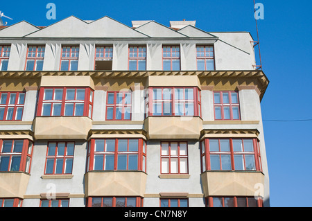 Cubist style Druzstevni domy the Cooperative house (1921) by Otakar Novotny old town Prague Czech Republic Europe - Stock Photo