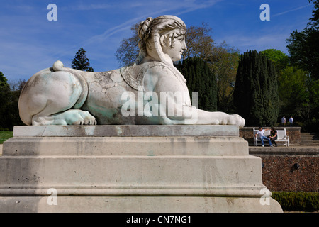 France, Paris, Bois de Boulogne, Parc de Bagatelle - Stock Photo