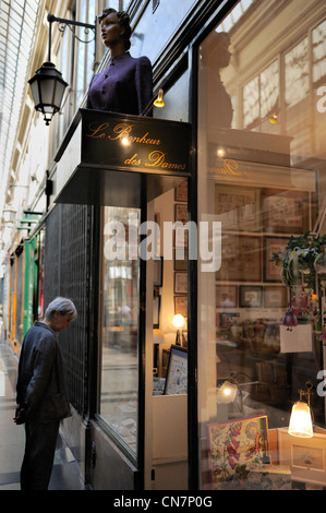 France, Paris, Passage Verdeau, Au Bonheur des Dames store - Stock Photo