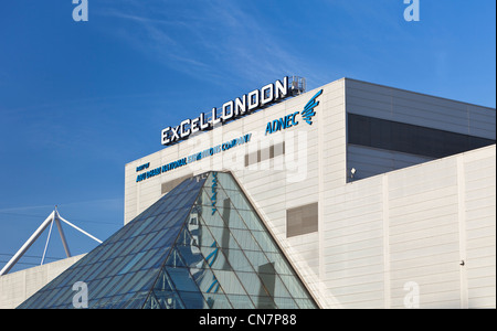 ExCeL centre, London Docklands, England - Stock Photo