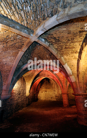 France, Doubs, Baume les Dames, Museum of Neuchatel Sires, 12 cellars dated 15th century - Stock Photo