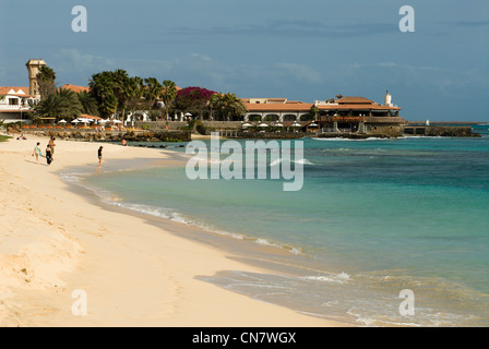 Cape Verde, Sal island, Santa Maria, beach - Stock Photo