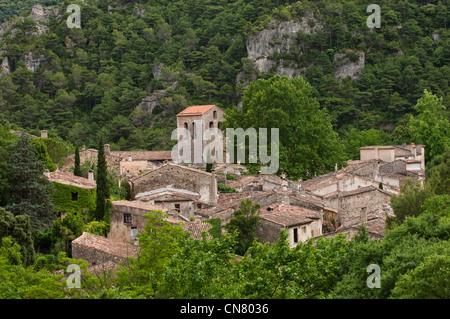 France, Herault, Saint Guilhem le Desert, labelled Les Plus Beaux Villages de France (The Most Beautiful Villages - Stock Photo