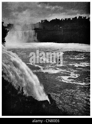 1900 Niagara Falls waterfall - Stock Photo