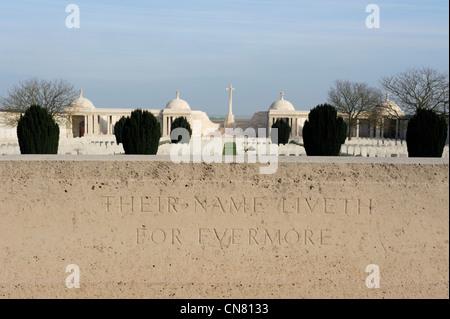 France, Pas de Calais, Loos en Gohelle, Dud Corner cemetery - Stock Photo