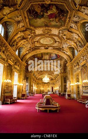 France, Paris, Palais du Luxembourg, the Senate, the Salle des Conferences - Stock Photo