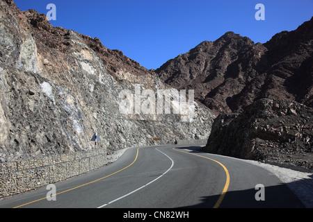 Landschaft am Jebel Shams, Oman - Stock Photo
