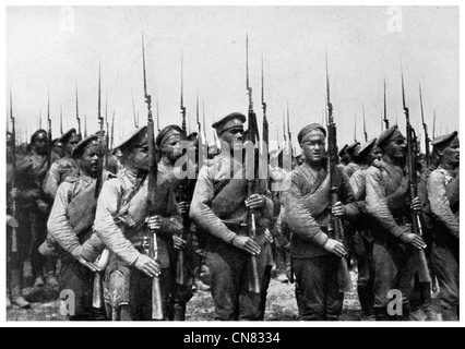 1917 Warsaw Poland defending troops army military regiment World War 1 - Stock Photo