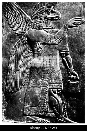 First published 1916 Assyrian Conception of Ashur Chief of the Gods - Stock Photo