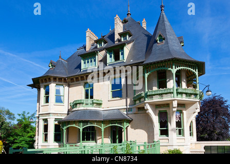 france marne reims the villa demoiselle of art nouveau style the stock photo royalty free. Black Bedroom Furniture Sets. Home Design Ideas