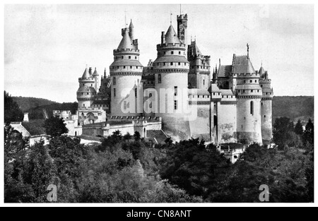 First published 1915 Pierrefonds Chateaux Ile De France near Compiegne France - Stock Photo