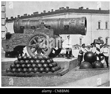 First published 1914 Tsar Cannon. Kremlin, Moscow, Russia. - Stock Photo