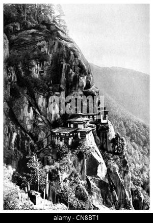 First published 1914 Paro tatsang monastery cliff bhutan tigers nest