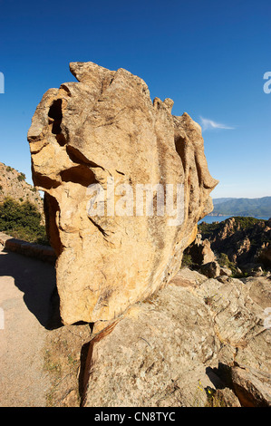 France, Corse du Sud, Gulf of Porto, Piana, labeled Les Plus Beaux Villages de France (The Most Beautiful Villages - Stock Photo