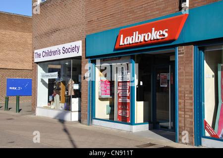 Ladbrokes, Middle Street, Consett, Co Durham, England, UK - Stock Photo
