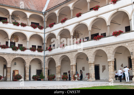 Slovenia, Lower Styria Region, Ptuj, town on the Drava River banks, the castle - Stock Photo