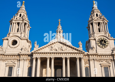 United Kingdom, London, City, St. Paul's cathedral, designed by British architect Christopher Wren, inaugurated - Stock Photo