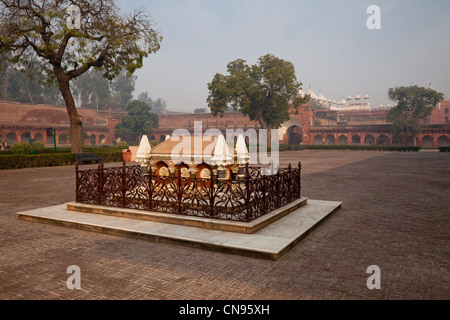 Agra, India. Agra Fort. Grave of John Russell Colvin, British lieutenant-governor of the Northwestern Provinces, - Stock Photo