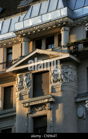 Hungary, Budapest, listed as World Heritage by UNESCO, art nouveau building - Stock Photo