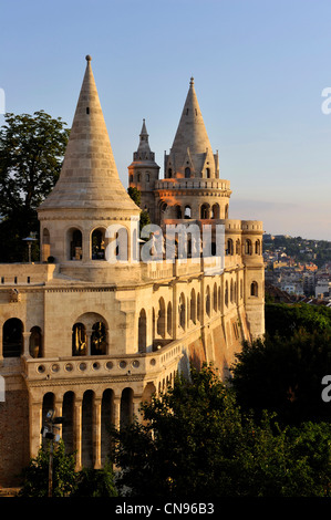 Hungary, Budapest, the historical Buda Castle district listed as World Heritage by UNESCO, Fisherman's Bastion, - Stock Photo