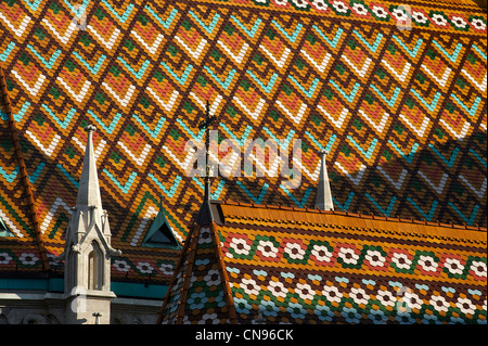 Hungary, Budapest, Buda district, Saint Mathias church, Castle Hill listed as World Heritage by UNESCO - Stock Photo