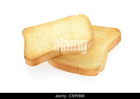 Rusk bread slices - Stock Photo