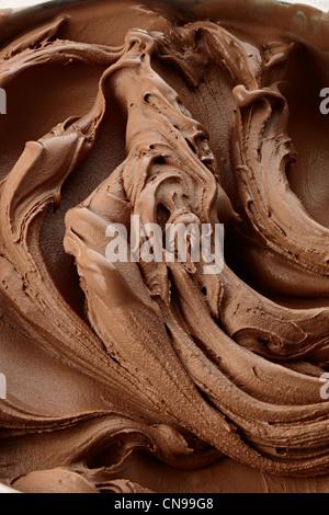 chocolate swirl detail close up Gelato ice cream - Stock Photo