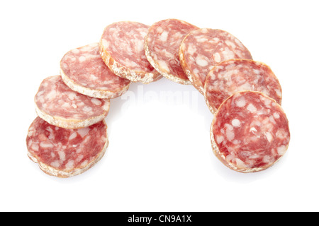 Salami sliced - Stock Photo