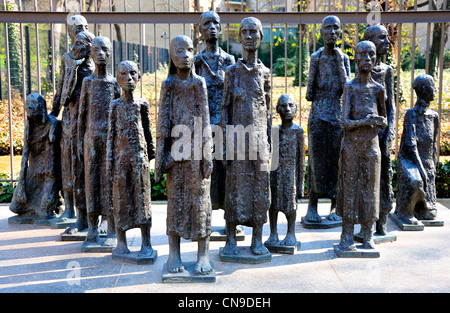 Berlin, Germany. Jewish Cemetery in Grosser Hamburger Strasse. Memorial to the Jews murdered in the Holocaust - Stock Photo