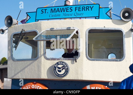 The St Mawes to Falmouth ferry on route to Falmouth - Stock Photo