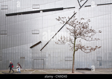 Germany, Berlin, Jewish Museum, built by Polish descent American architect Daniel Libeskind, inaugurated in 2001, - Stock Photo