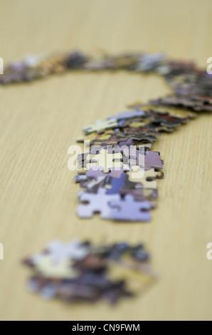 Jigsaw Question Mark - Stock Photo