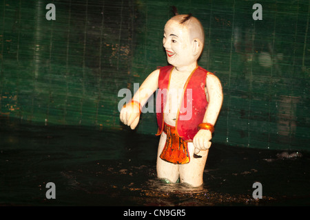 Water puppet, Thang Long Water Puppet Theatre, Hanoi, Vietnam - Stock Photo