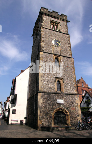 The Clock Tower Market Place St Albans Hertfordshire - Stock Photo