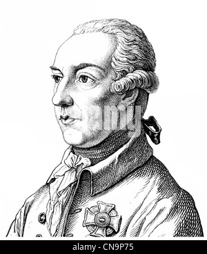 Joseph II, 1741 - 1790, House of Habsburg-Lorraine, Archduke in the Archduchy of Austria, German King and Emperor - Stock Photo