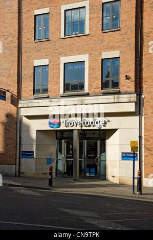 Entrance to Travelodge Hotel Micklegate York North Yorkshire England UK United Kingdom GB Great Britain - Stock Photo