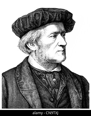 Wilhelm Richard Wagner 1813 - 1883, a German composer, playwright, philosopher, poet, writer, theater director and - Stock Photo