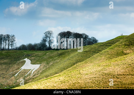 Cherhill White Horse - Stock Photo