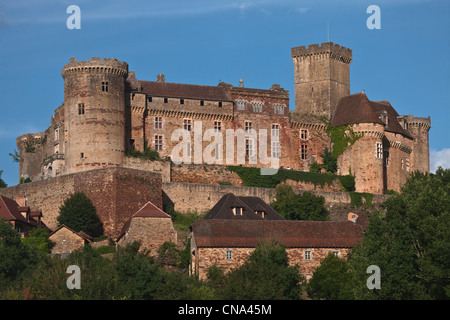 France, Lot, Prudhomat, Chateau de Castelnau Bretenoux - Stock Photo
