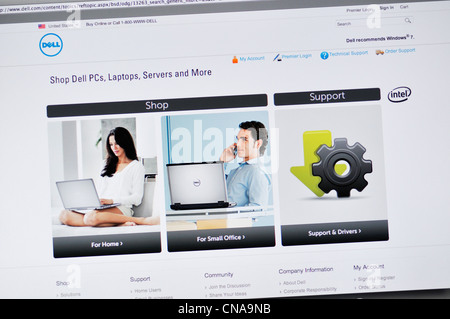 Dell website stock photo royalty free image 27980864 alamy for Del website